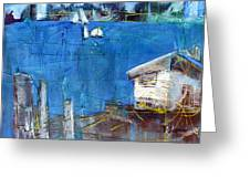 Shack On The Bay Greeting Card
