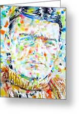 Shackleton - Watercolor Portrait Greeting Card