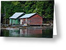 Shacks In Alaska Greeting Card