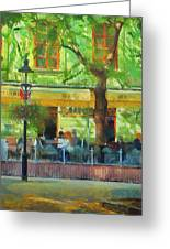 Shaded Cafe Greeting Card