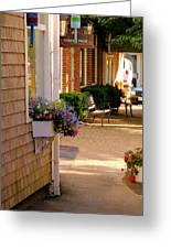 Shaded Walkway Greeting Card