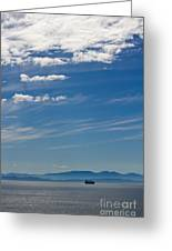 Blue Skies And Bluer Seas Greeting Card