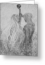 Shades Of Gray - Adam And Eve Greeting Card