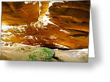 Shades Of Light Shadow And Texture On Cliff Wall Greeting Card