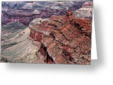Shades Of Red In The Canyon Greeting Card