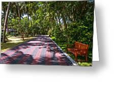 Shadow Alley In Sun Island Resort. Maldives  Greeting Card