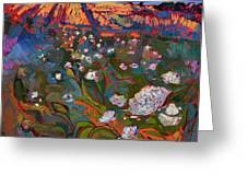 Shadow Bloom Greeting Card by Erin Hanson
