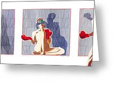 Shadow Boxer - Full Greeting Card by Robert G Mears