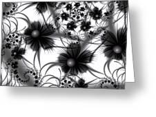 Shadow Flowers Greeting Card