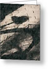 Shadow Heart Chalk 1 Hp Greeting Card