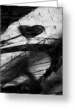 Shadow Heart Rough Charcoal Greeting Card