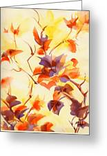 Shadow Leaves Greeting Card