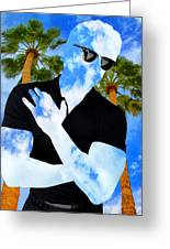 Shadow Man Palm Springs Greeting Card