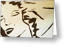 Shadow Monroe Greeting Card