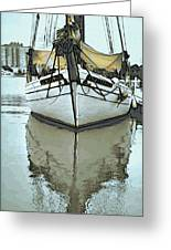 Shadow Of Boat Greeting Card