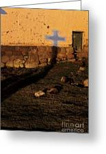 Shadow Of Cross Peru Greeting Card