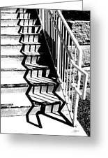 Shadow Of Handrail Greeting Card