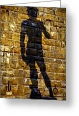 Shadow Of Michaelangelo's David Greeting Card