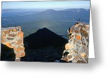 M-05715-shadow Of Mt. Mcloughlin Greeting Card