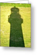 Shadow Of Tybee Lighthouse Greeting Card