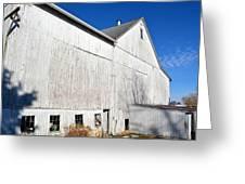 Shadow On White Barn Greeting Card