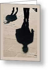 Shadow People In London # 2 Greeting Card