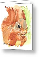 Shadow Tail Red Squirrel Greeting Card