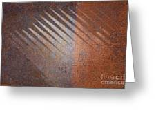 Shadows And Rust Greeting Card