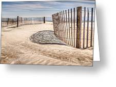 Shadows In The Sand II Greeting Card