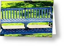 Shadows Of A Park Bench Greeting Card