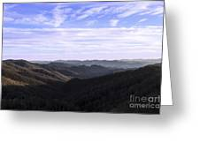 Shadows Of The Mountains Greeting Card