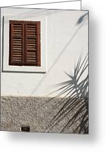 Shadows On Old House. Greeting Card