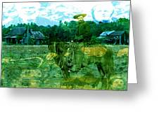Shadows On The Land Greeting Card
