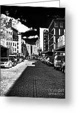 Shadows On The Street Greeting Card