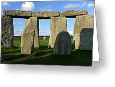 Shadowy Stonehenge Greeting Card