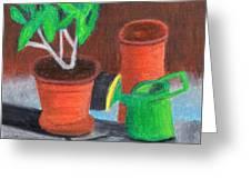 Shady Garden Corner Greeting Card by Bav Patel