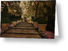 Shady Garden Walk Greeting Card by Cindy Rubin