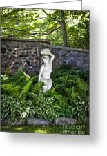 Shady Perennial Garden Greeting Card