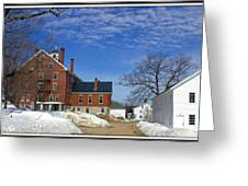 Shaker Village Road Poland Springs Maine Greeting Card