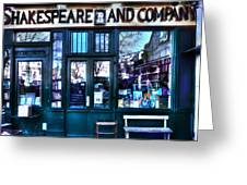 Shakespeare And Company Paris France Greeting Card
