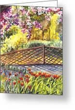 Shakespeare Garden Central Park New York City Greeting Card by Carol Wisniewski