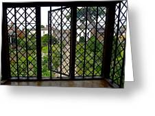 View Through Shakespeare's Window Greeting Card