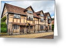Shakespeare's Birthplace Greeting Card