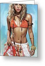 Shakira Artwork Greeting Card