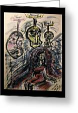 Shame Doubt Insecurity Our Own Worst Enemies Greeting Card by Mimulux patricia no No