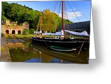 Shamrock Barge Greeting Card