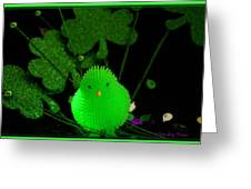 Shamrock Chick Greeting Card