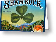 Shamrock Crate Label Greeting Card