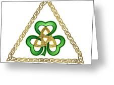 Shamrock Trinity Greeting Card