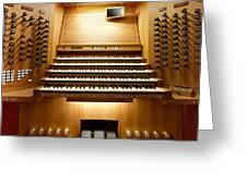 Shanghai Organ Console Greeting Card